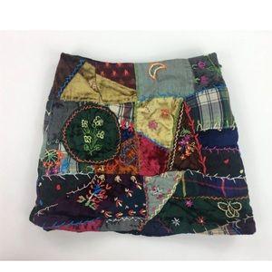 Gap Kids Girls 3 Velvet Patchwork Mini Skirt